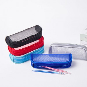 Clear PVC Zipper Pen Pencil Case, Big Capacity Pencil Bag Makeup Pouch
