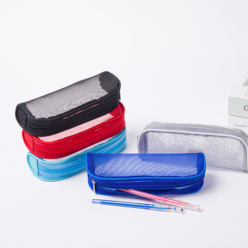 Clear PVC Zipper Pen Pencil Case, Big Capacity Pencil Bag Makeup Pouch Featured Image