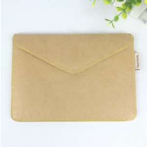 Brown&yellow felt Ipad mini bag file folder document letter envelope paper portfolio case for home office stationery
