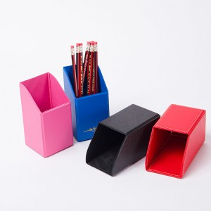Camei collapsible PVC pencil holder pen cup pot containers makeup desk organizer 4 colors available large storage for office school home supplies