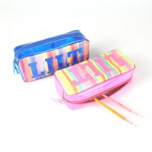 Pencil Case Large Capacity Makeup Pen Bag Stationery Organizer Pencil Pouch with Zippers Green