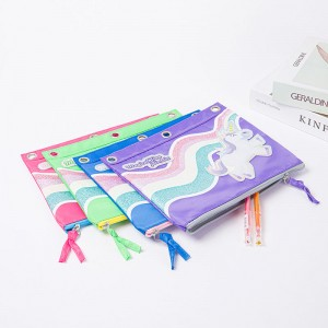 Cute Horse Pencil Pen Case Cosmetic Makeup Bag