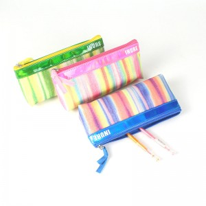 Zipper Waterproof Bag Pencil Pouch for Cosmetic Makeup Office Supplies and Travel Accessories