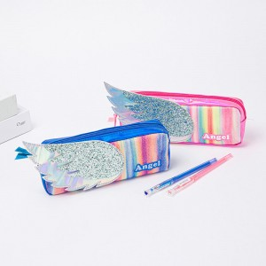 The wing of angel blue Pencil bag, Makeup Bag, Cosmetic Pouch