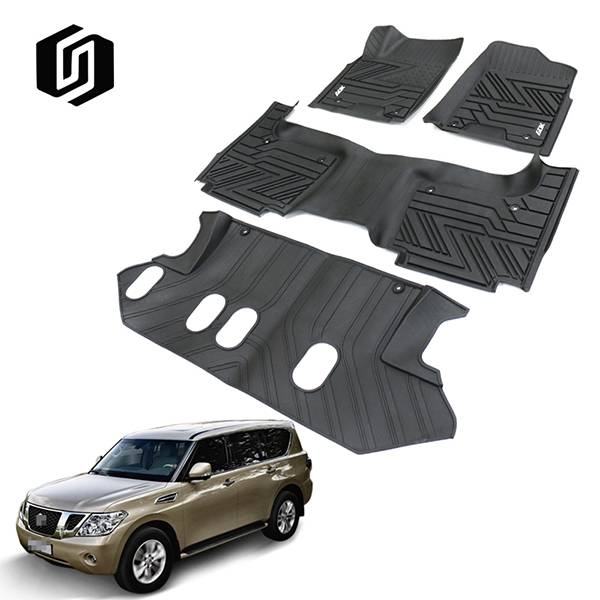 TPE CAR FLOOR MAT FOR NISSAN PATROL-7 SEATS 2012+