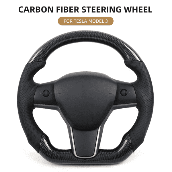 Carbon Fiber Steering Wheel For Tesla