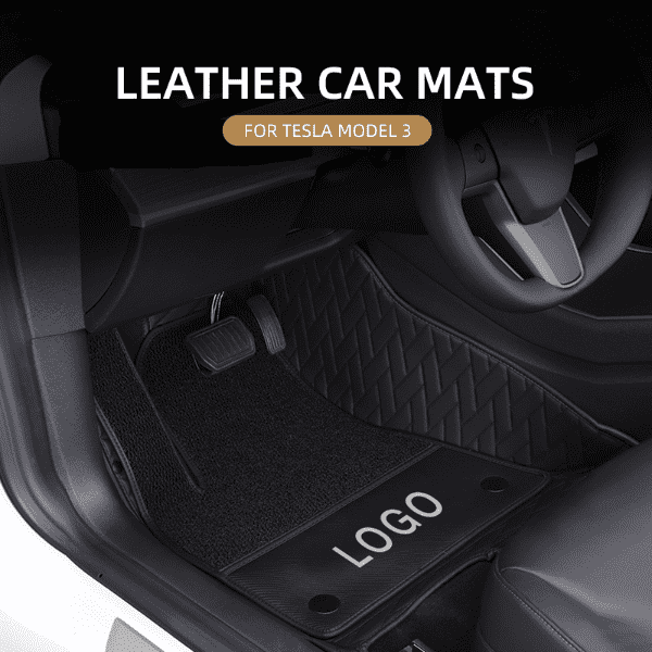 Leather Car Mat For Tesla Model 3