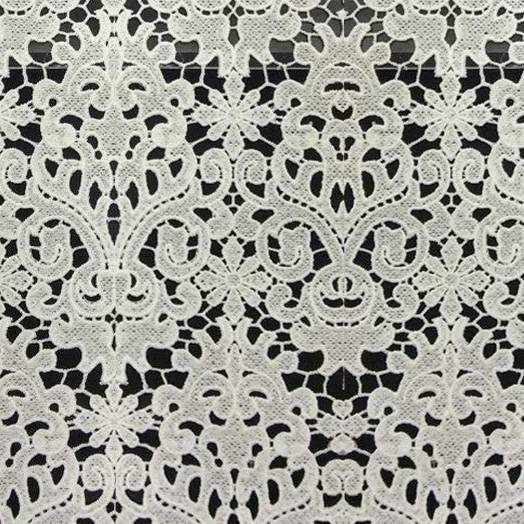 130cm polyester guipure lace fabric for wedding gown and garments