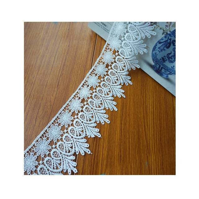 new water soluble chantilly custom cotton embroidered chemical lace trim