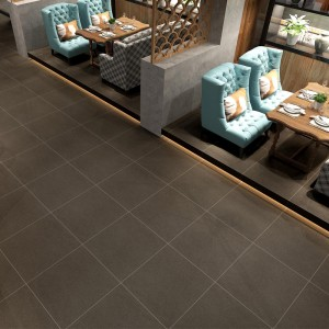 Professional China Glazed Rustic Tile - Anti Slip Full Body Rustic Ceramic Floor Tiles 60x60cm Grey Color – Cerarock