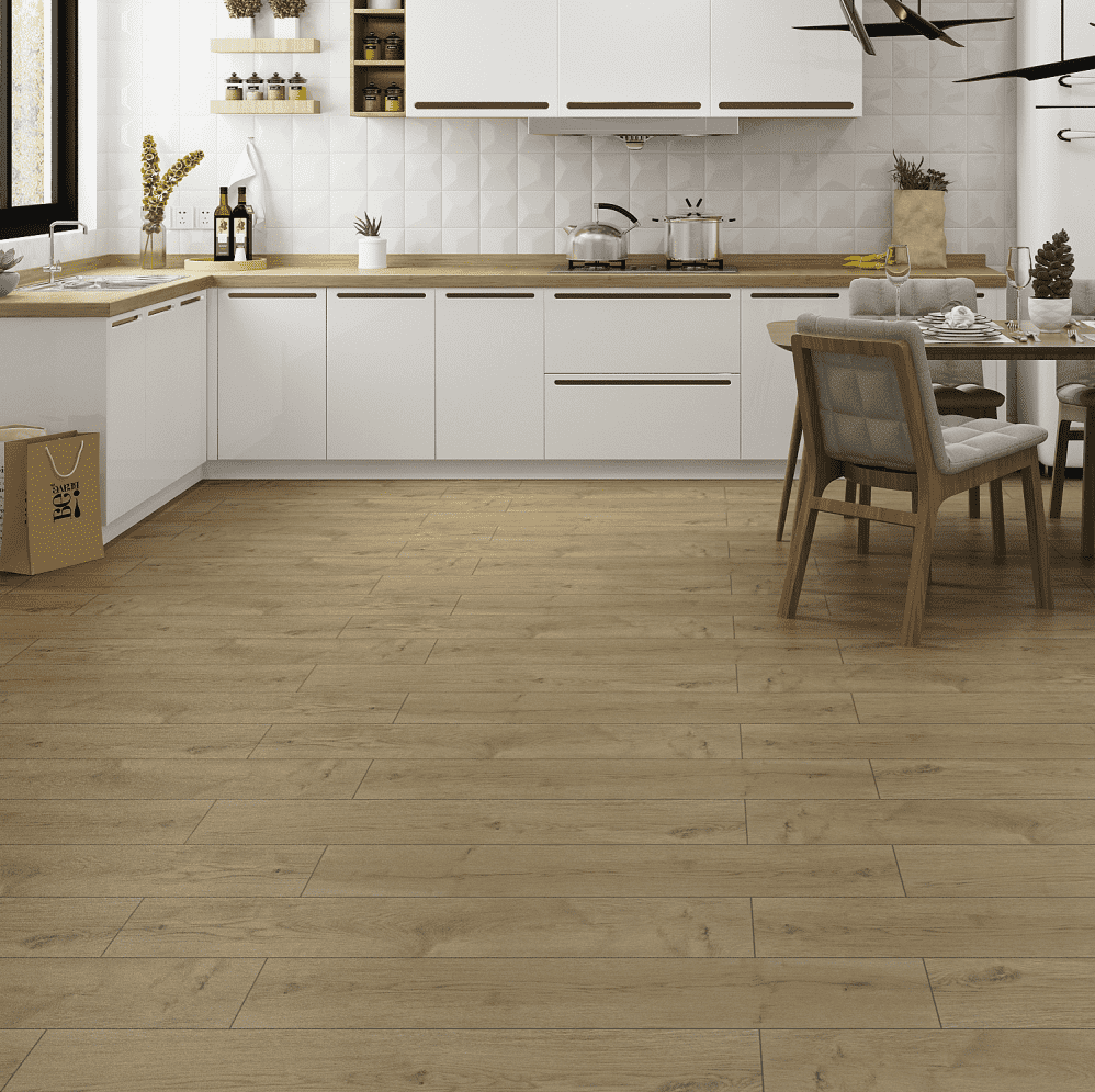 Porcelain Wood Effect Floor Tiles Low Thermal Shock Resistance For Building Material Featured Image