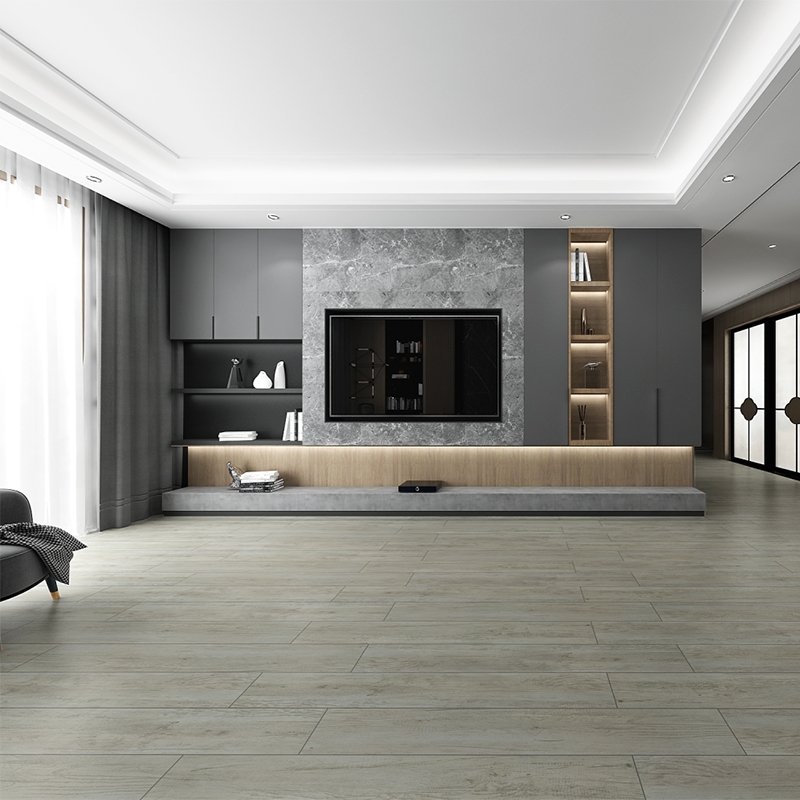 Porcelain Ceramic Wood Look Tile Flooring For Living Room Non – Slip Featured Image