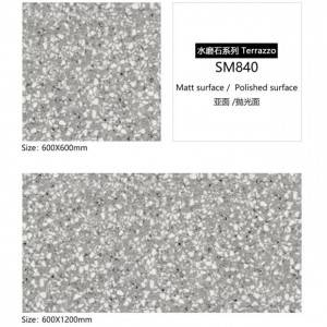 Quartz Stone 600×600 New Design Matte Finish Tile Terrazzo Tiles