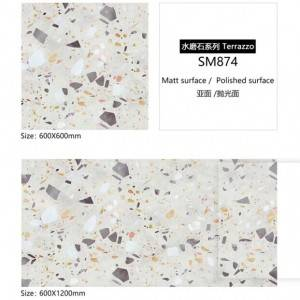 New Design Terrazzo Ceramic Matt Floor Tile 60×60 60×120