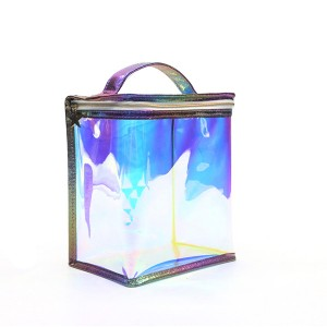 Eco-friendly degradable iridescent TPU cosmetic bags