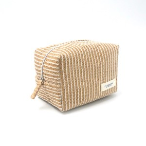 Paper Straw Pouch Eco-friendly Natural Color Make Up Cosmetic Organizer