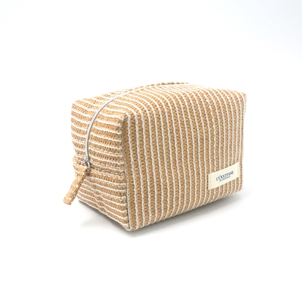 Chinese Professional Cork Material Straw Toiletry Bags - Paper Straw Pouch Eco-friendly Natural Color Make Up Cosmetic Organizer – Changlin