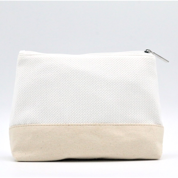 Natural Fabric reusable cosmetic makeup bag packaging for Unisex for Travel Featured Image
