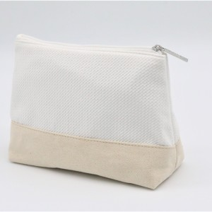 Natural Fabric reusable cosmetic makeup bag packaging for Unisex for Travel