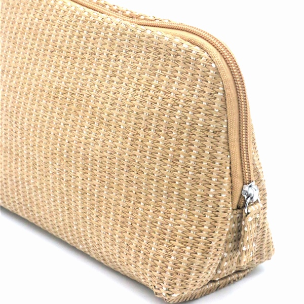 2020 wholesale price Paper Straw Toiletry Bags - Natural Paper Straw Bag Eco-friendly Cosmetic Organizer Zipper Pouch Make Up Bag – Changlin