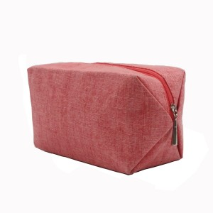 Polyester pink eco-friendly portable bag cosmetic packaging travel business bag