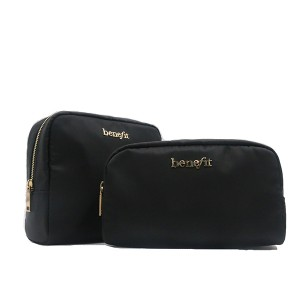 Nylon black portable cosmetic travel business packing bag for Unisex