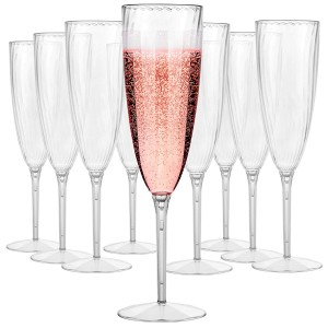 High Quality for 8 Oz Hot Cups With Lids - Disposable 6 oz One Piece Stemmed Plastic Wine Glasses Plastic Champagne Flutes for Weddings and special Celebrations  – Charmlite