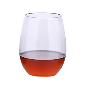 Charmlite Small Size Cold Coffee Crystal Cup Clear Stemless Wine Taster Cup – 8 oz