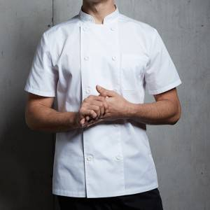 Classic Double Breasted Short Sleeve Chef Coat For Restaurant And Hotel CU104D0200E