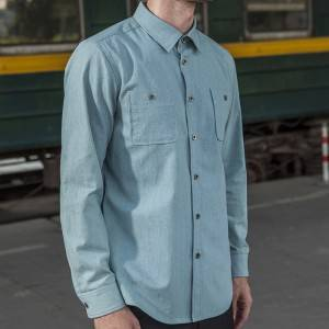 Cotton Polyester Cotton Classic Long Sleeve waiter uniform Shirt CU1115C125000T6