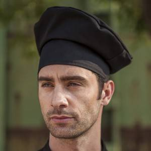 Poly Cotton Black Chef Hat CU404S0100A