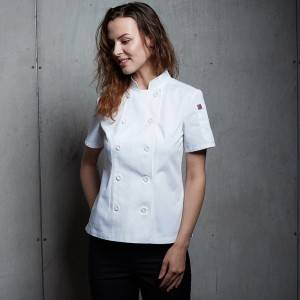 DOUBLE BREASTED SHORT SLEEVE CHEF JACKET FOR HOTEL AND RESTAURANT CW104D0200A