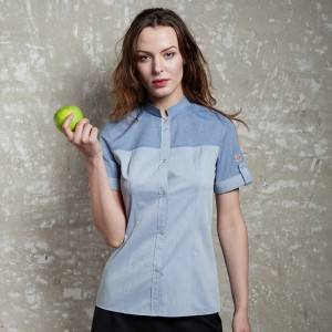 Short sleeve waitress shirt with one pocket on left chest CW1109D115000AM