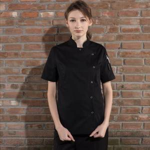 SINGLE BREASTED SHORT SLEEVE CHEF JACKET FOR HOTEL AND RESTAURANT CW114D0100E