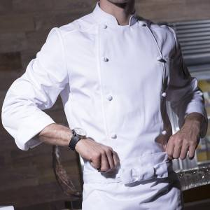 Double Breasted Long Sleeve Classic Design Chef Jacket For Hotel And Restaurant CU156C0200C