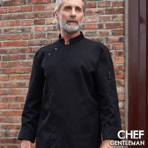 Stand Collar Long Sleeve Hidden Placket Chef Jacket For Hotel And Restaurant U166C0100C