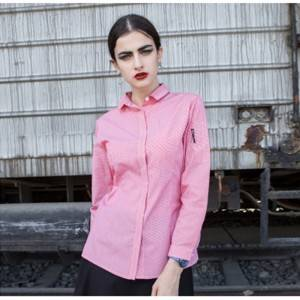 Polyester Cotton Classic Long Sleeve Slim Fit waitress uniform Shirt CW1056C155000H