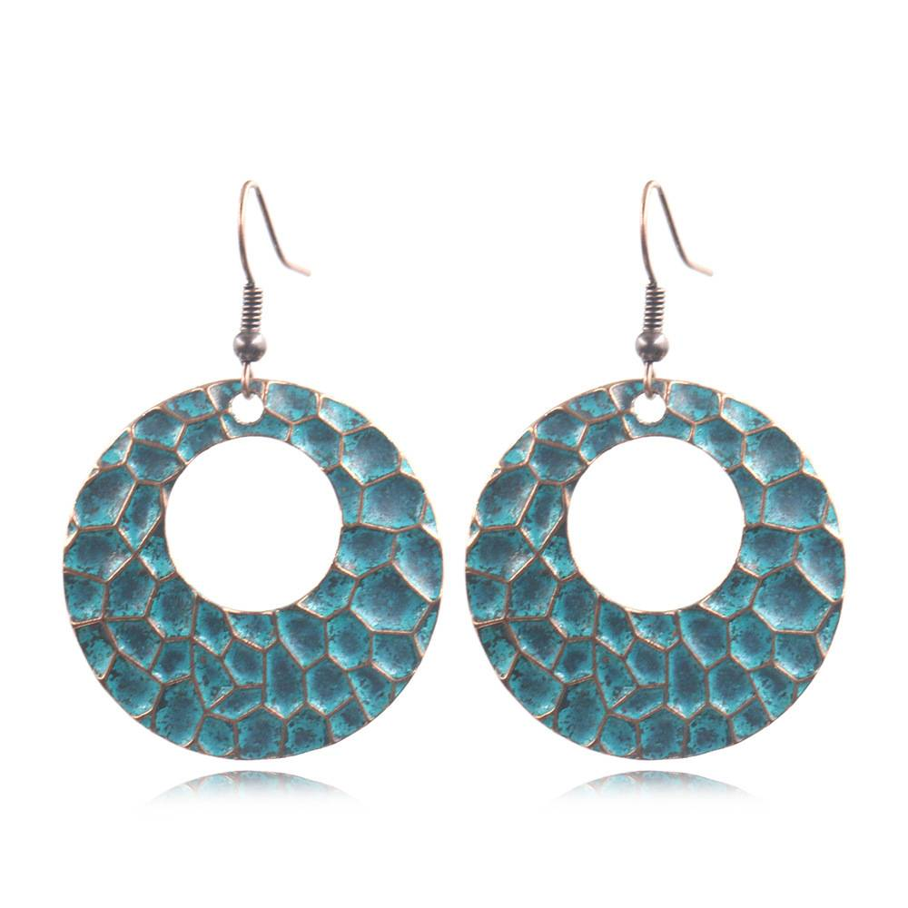Bohemian Hammered Earrings Boho Earrings  E160