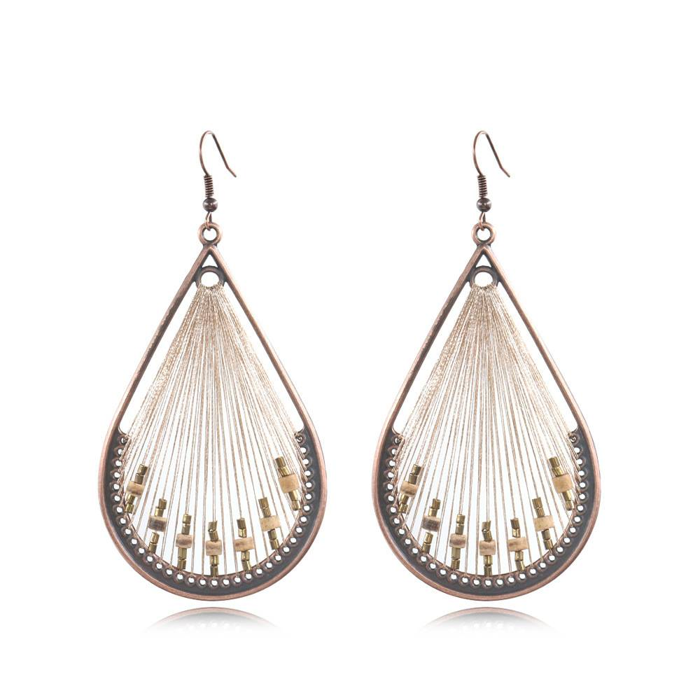 Peruvian inspiration thread earrings woven earrings native american earrings  E163