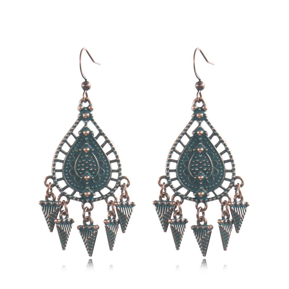 2020 China New Design Boho Earrings - Boho ethnic statement earrings – Vintage tribal earrings  E167 – Sybon