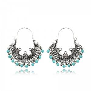 China Supplier Vintage Alloy Earrings - Nepalese ethnic earrings boho turquoise earrings E156 – Sybon