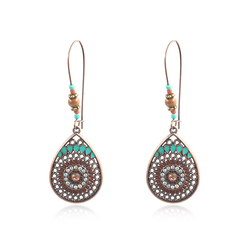 High Quality for Studs Earring For Women - Vintage Bronze Earrings, Turquoise Earrings, Turquoise Jewellery, Boho, Turquoise, Bohemian, Ethnic, Gypsy, Hypoallergenic E123 – Sybon Featured Image