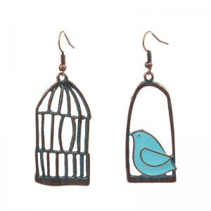 OEM Customized Earrings Tassel - Vintage bird and birdcage earrings Gift ideas for her Anniversary gift Geometric earrings Casual earrings Cute romantic earrings E110 – Sybon