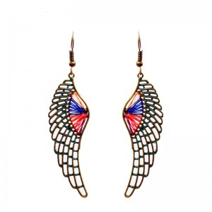 Renewable Design for Angel Wings Earrings - Fashion Jewelry Angel Wing Pendant Jewelry Statement Colorful Woven Thread Dangle Earrings  E240 – Sybon