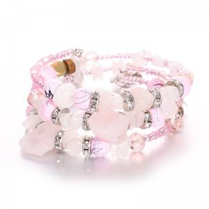 Fashion Bracelet Bohemian alloy crystal beads multi layer beach style bracelet female jewelry B117