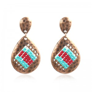 Retro hammered personalized Earrings E195