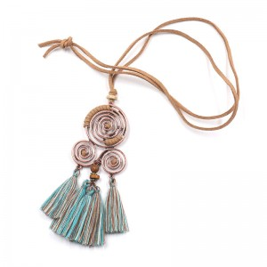 Statement necklace 2020 New arrival long female tassel pendant necklaces for women Bohemian geometric necklaces&pendants jewelry N123