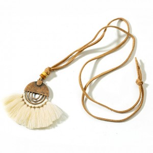 100% Original Custom Necklace Gold - New Tassel Necklace Fringe Sweater Necklaces Boho 80cm Long Necklace Women Gifts Maxi Choker Statement Jewelry N114 – Sybon