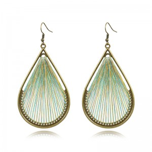 Good Quality Earrings - Peruvian inspiration thread earrings  yellow blue thread earrings  woven earrings native american earrings E127 – Sybon