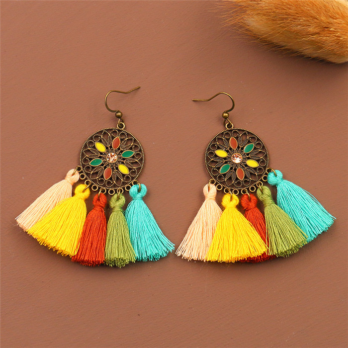 Bohemian Ethnic Dangle Earring